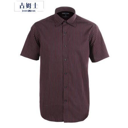 占姆士夏季男士休闲短袖潮流舒适透气衬衫