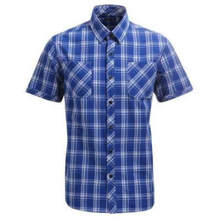 占姆士男士纯棉短袖休闲多色舒适衬衫