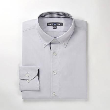 占姆士男士新款时尚商务职业纯棉长袖衬衫DA112045622