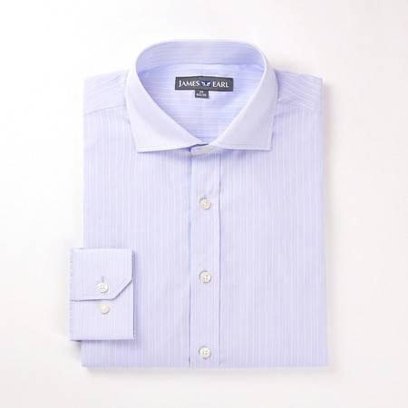 占姆士男士新款正装商务职业纯棉长袖衬衫DA112030704
