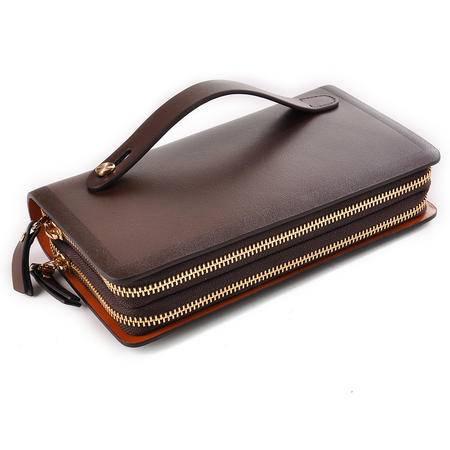 老人头 新品 男包时尚男士牛皮手抓包 男包手拿包 商务休闲皮包