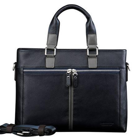 老人头 商务手提单肩包 男士牛皮包 欧美大气品牌 高档公文包包
