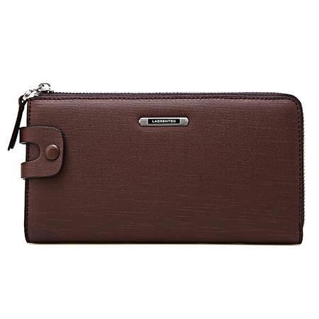 老人头 新款牛皮男士手拿包商务休闲男手包钱包