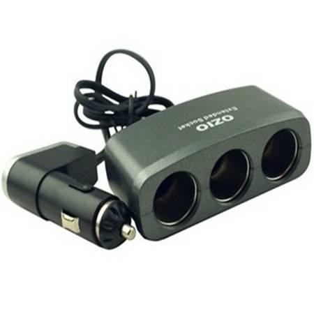 奥舒尔/OZIO R15 一分三车载点烟器插座带USB接口
