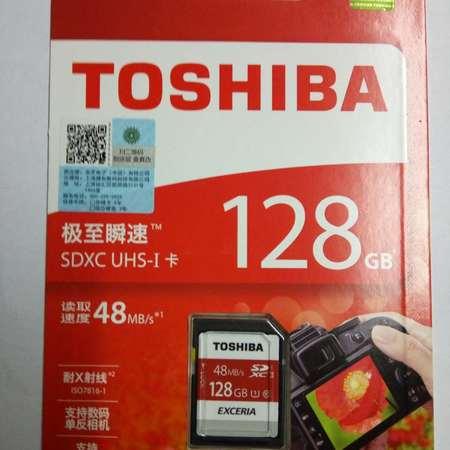 东芝/TOSHIBA 128G SD 存储卡Class10-48MB/s