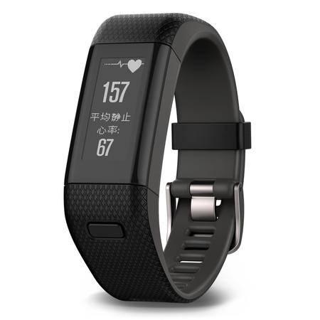 佳明/Garmin vívoactive HR 黑色智能心率手环智能手表蓝牙来电提醒运动监测睡眠监测