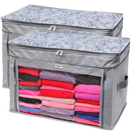 毕加索 PS-2311 竹碳纤维调整增高型衣物收纳袋二件组合