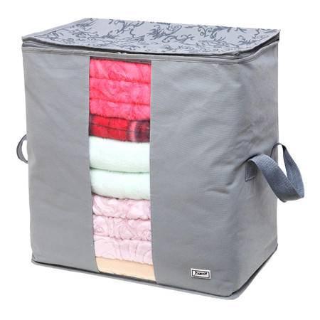 毕加索 竹碳纤维 视窗型衣物收纳袋 棉被袋 收纳袋 衣物整理袋 二入组合--