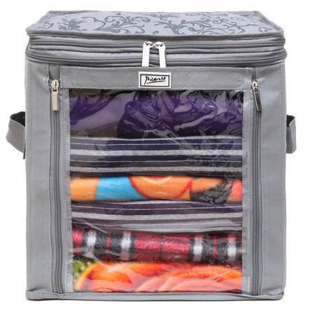 毕加索 竹碳纤维 43升增高型衣物收纳箱 收纳袋 衣物整理箱 PS-2310-