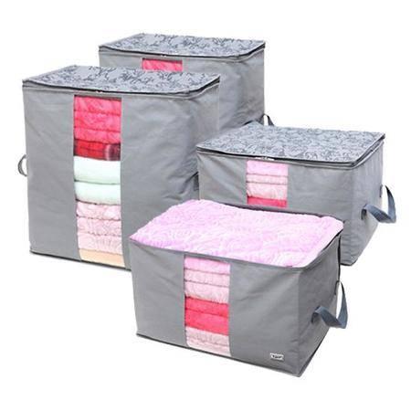 毕加索 竹碳纤维 视窗型衣物收纳袋 棉被袋 衣物整理袋 2322*2+2320*2