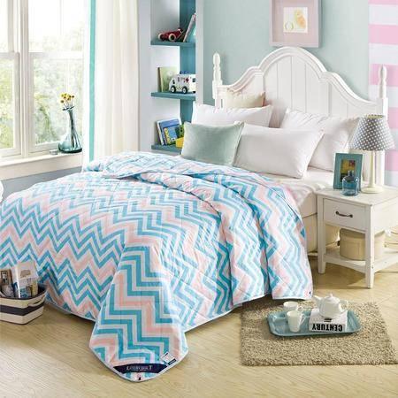 床上用品被枕套米方家纺 印花夏被夏凉被子 恒温空调被芯
