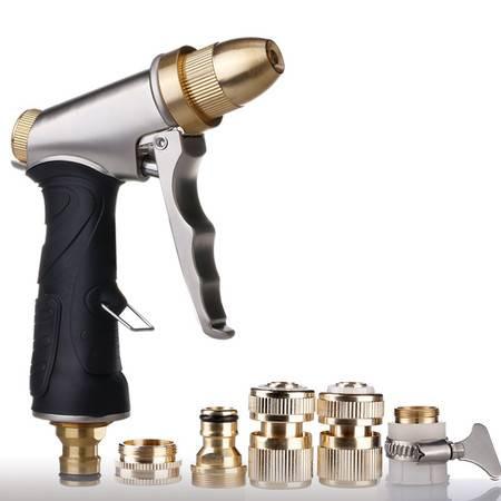 车旅伴 土豪金高压洗车水枪全铜接头套装土豪金(不含水管)