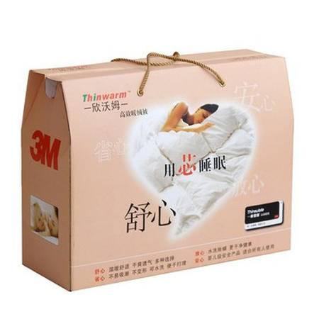 3M 欣沃姆Thinwarm 床品家纺被芯 全棉高效暖绒清凉双人被