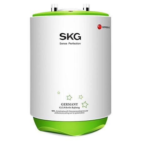 SKG 防电墙保护 竖式立式速热储水式电热水器 上出水小厨宝 厨宝 5065苹果绿 6.5L