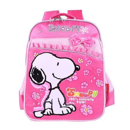 包邮 史努比小学生书包1-4年级男女生卡通包双肩背包B008 粉色