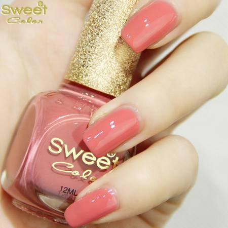满百包邮 Sweet Color环保指甲油 糖果色漆光实色系列 淡淡清幽粉色S329 12ML