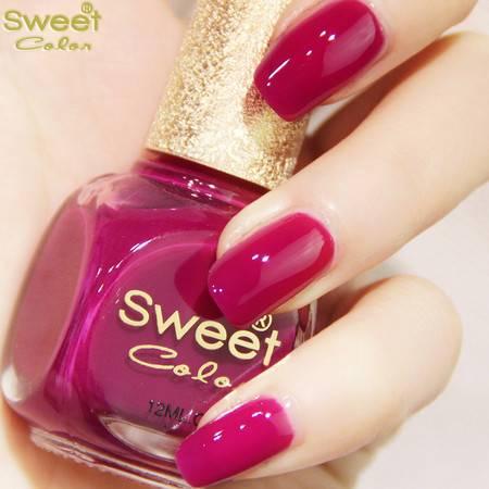 满百包邮 Sweet Color环保指甲油 很女人颜色 显白 轻舞紫韵S013 12ML