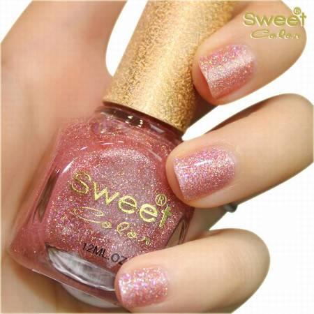 满百包邮 Sweet Color环保指甲油 七彩钻石 日落彩橙色S294 12ML
