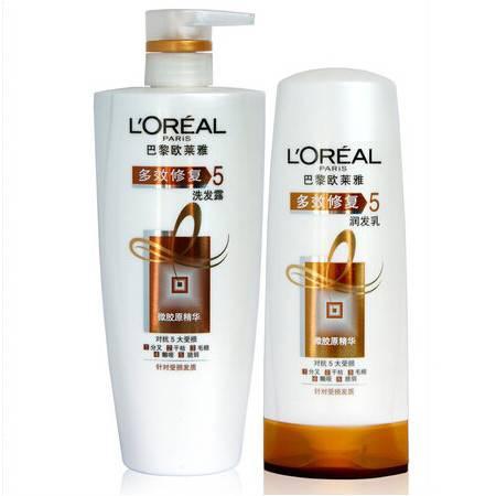 L'OREAL/欧莱雅 洗发护发套装 多效修复洗发水700ml+护发乳400ml