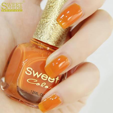 Sweet Color环保指甲油 糖果色漆光实色系列 甜甜糖果橙色 12ML S274