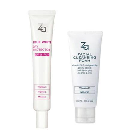 包邮 ZA真皙美白护肤套装 隔离霜+洁面膏