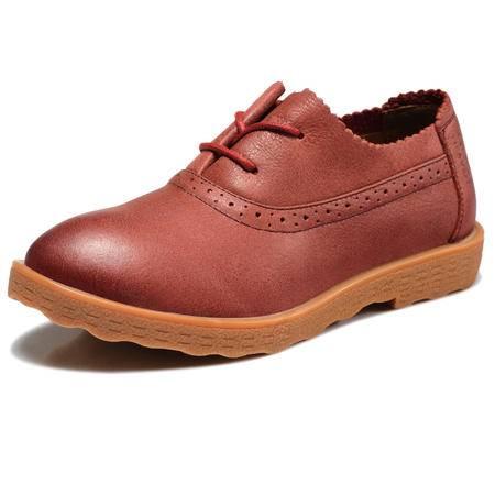 古奇天伦 真皮马丁鞋低帮休闲女鞋平底单鞋子