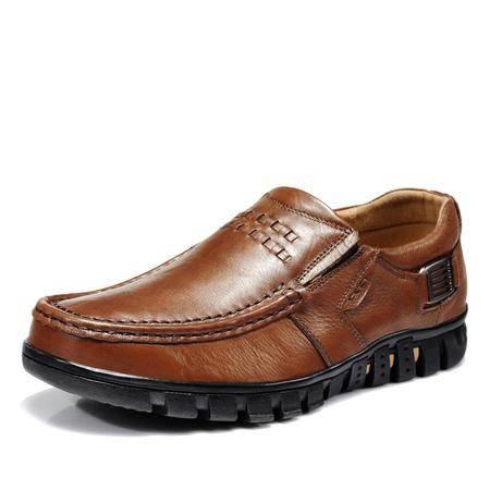 古奇天伦 商务休闲皮鞋真皮低帮鞋休闲男鞋子
