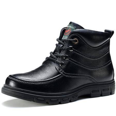 高帮鞋正品新款时尚男士真皮鞋休闲男靴