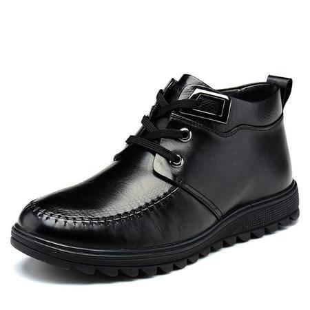 高帮男鞋新款正韩版英伦皮鞋休闲保暖棉靴