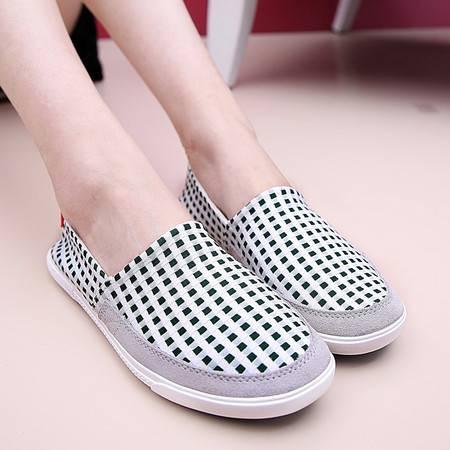 夏季新品一脚蹬休闲女鞋潮流学生单鞋韩版帆布鞋