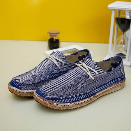 新款时尚男鞋流行男单鞋学生百搭韩版帆布鞋