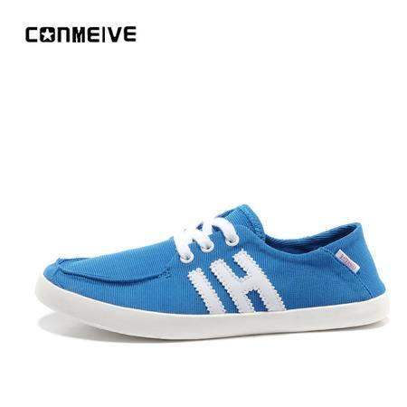 夏季新品一脚蹬休闲女鞋低帮学生韩版帆布鞋透气偏小一号