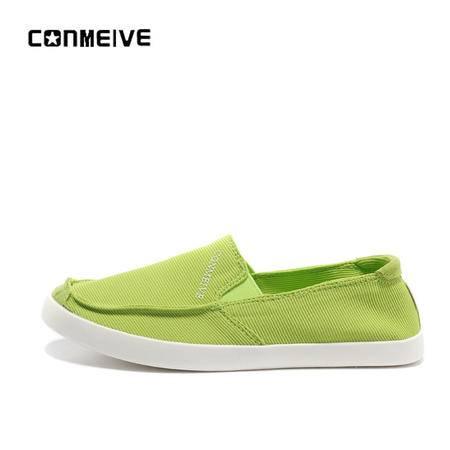 夏季新品一脚蹬休闲女鞋透气韩版学生帆布鞋偏小一号