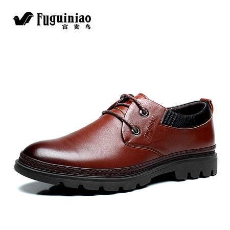 富贵鸟男士单鞋 英伦真皮皮鞋 商务休闲男鞋 正品男式潮鞋