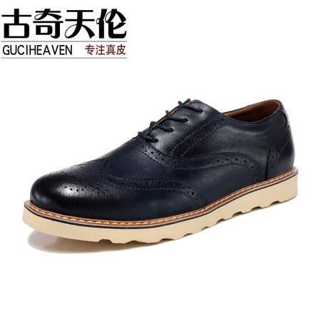 古奇天伦  新款布洛克男鞋 真皮皮鞋子 日常休闲鞋子 39-44