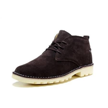 正品冬季新款时尚休闲鞋 系带加毛反绒皮鞋都市潮鞋