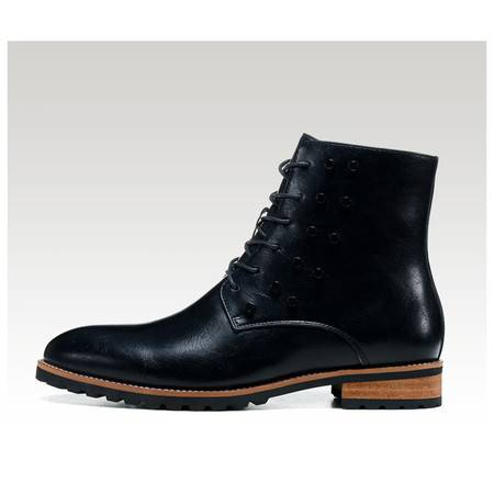 牛皮棉靴潮户外工装靴柳丁男靴马丁靴朋克牛仔靴皮靴