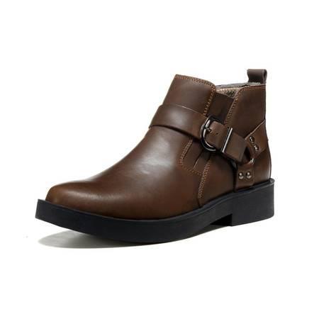 牛皮男靴潮户外工装靴真皮男靴马丁靴朋克牛仔靴皮靴