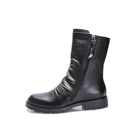 正品牛皮男靴潮户外工装靴真皮男靴马丁靴朋克牛仔靴马靴