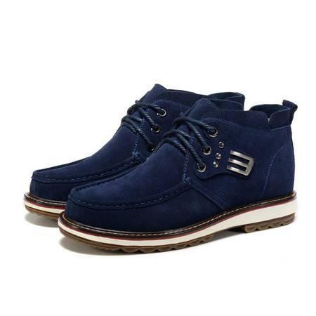 头层牛皮高帮靴潮流户外工装靴真皮男靴时尚牛仔马丁靴