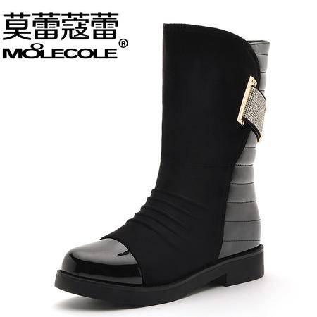莫蕾蔻蕾冬款新款时尚保暖中筒靴