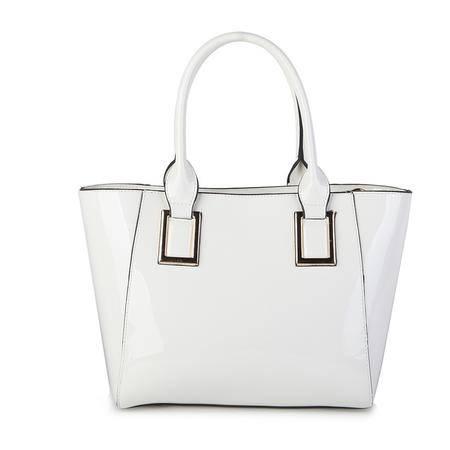 百牧林 高档牛皮手提包欧美时尚贵族女士包包 精致漆皮新款女中包