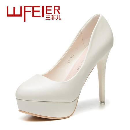 2015王菲儿新款时尚单鞋纯色工作鞋单鞋OL高跟鞋女鞋