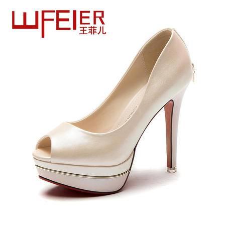 2015春季新款单鞋欧美超高跟性感细跟浅口鱼嘴鞋OL百搭高跟鞋