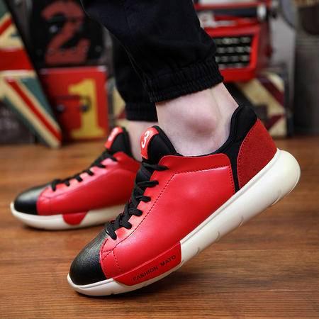 春款韩版男士跑鞋高帮鞋英伦板鞋青春潮流运动风休闲男鞋子