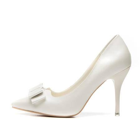王菲儿2015春季新款时尚蝴蝶结单鞋尖头细跟高跟鞋性感女鞋