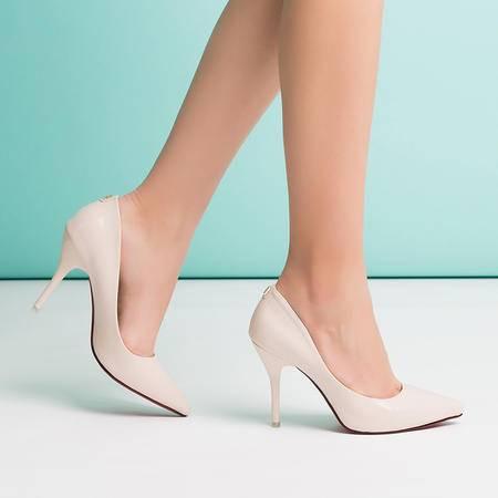2015王菲儿春季单鞋黑色工作鞋尖头高跟鞋性感女鞋