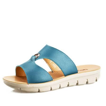 夏季新款时尚男鞋凉拖鞋头层牛皮