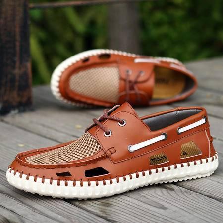 夏季新款时尚男鞋休闲鞋网布