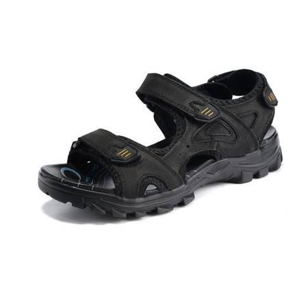 梵格鸟夏季新款时尚男鞋凉鞋头层牛皮